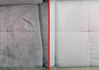 Hĺbkové tepovanie Bratislava, vytepovana sedačka vz. špinavá sedačka